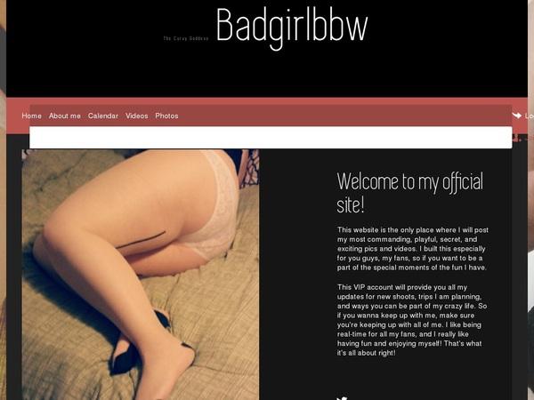 BADGIRLBBW Latest Passwords