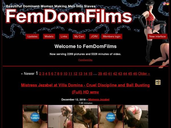 FemDom Films Free Accounts