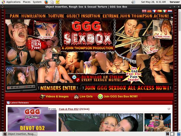 GGG Sex Box Accounts And Password