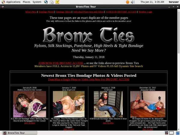 How To Get Free Bronxties.com Accounts