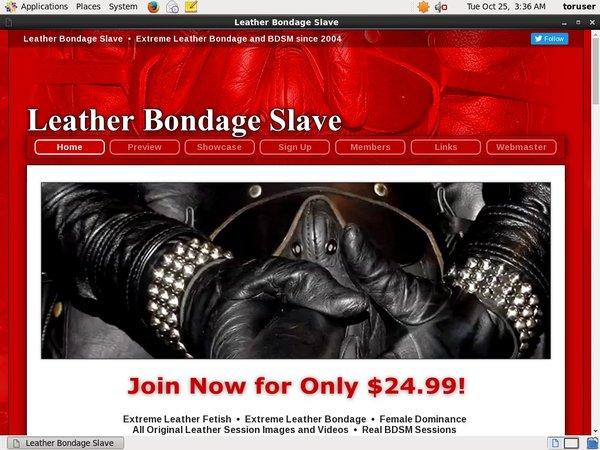 Leather Bondage Slave 가입하기