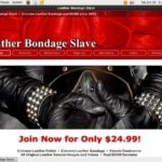 Leather Bondage Slave Special Discount