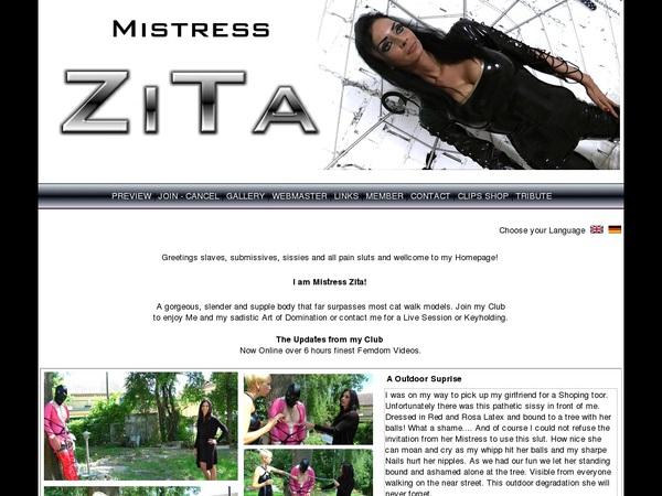 Mistress Zita Get An Account