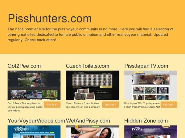 Piss Hunters Fetishbank New Accounts