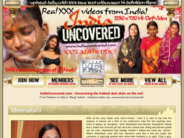 India Uncovered Mit Sofort