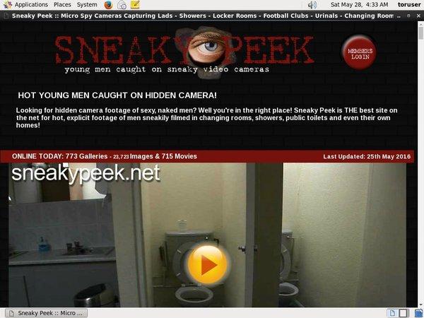 Sneaky Peek Accounts And Passwords