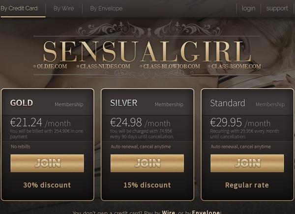 Sensualgirl.com Free Premium Accounts