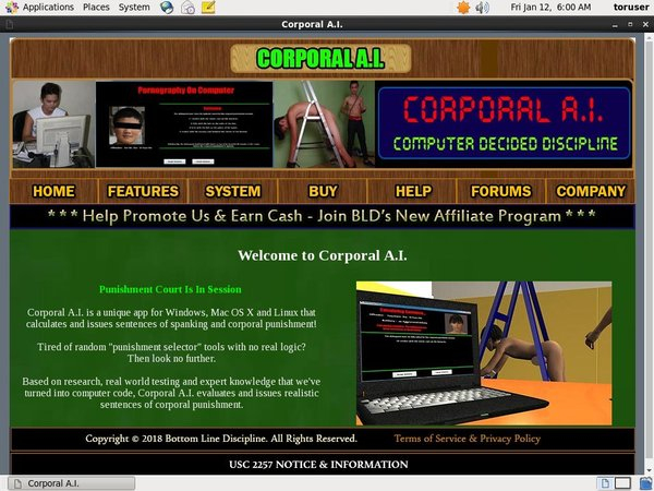 Corporal A.I. Discount Account
