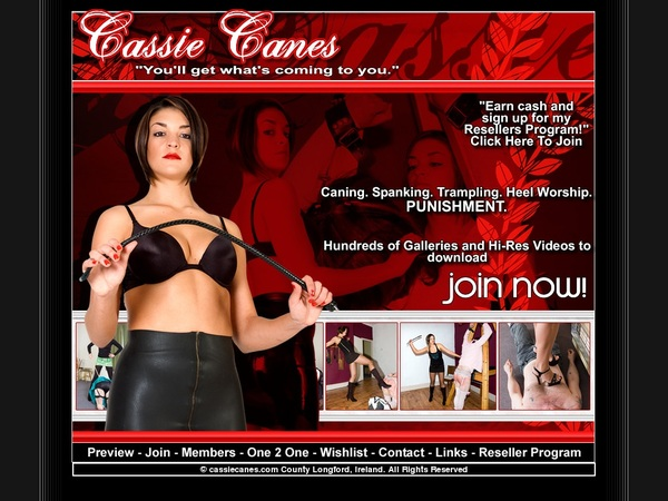 Cassie Canes User And Password