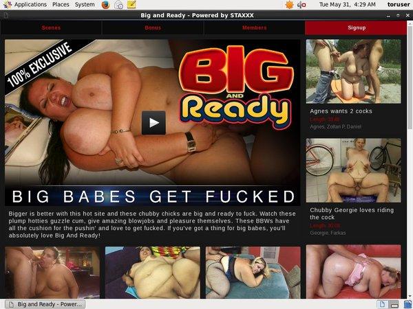Bigandready Sign Up