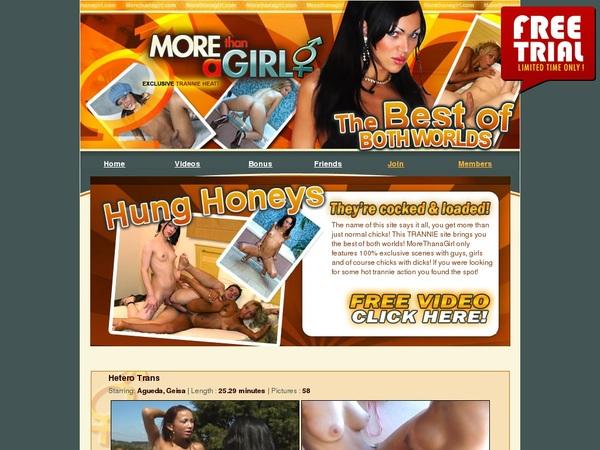 Get A Free Morethanagirl.com Account